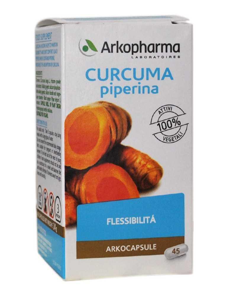 Arkocapsule Curcuma e Piperina funzionalità digestiva 45cps 924549239