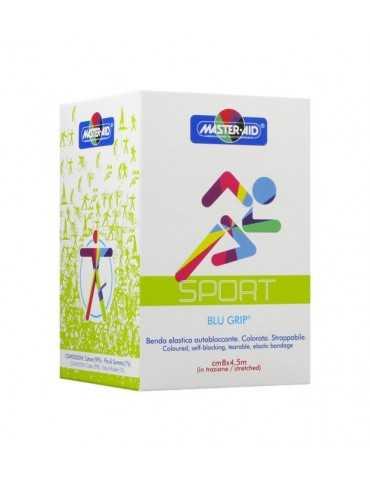 Master Aid Sport Blu grip benda elastica autobloccante cm 8 x 4,5 m Master Aid