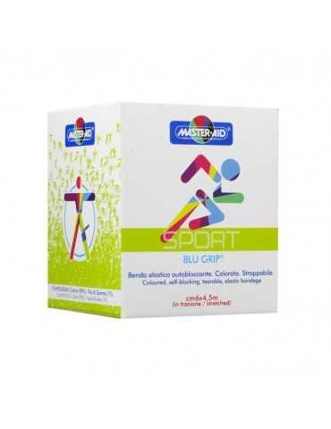 Master-Aid Sport Blugrip benda elastica autobloccante cm 6 x 4,5 m 904691413