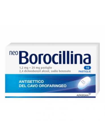 Neoborocillina 16 pastiglie antisettico cavo orale 1,2+20mg 022632121