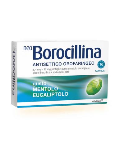 Neoborocillina Antisettico Orofaringeo 16 Pastiglie Menta 004901195