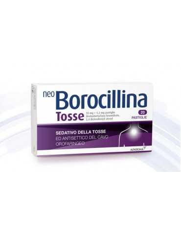 Neoborocillina Tosse 20 Compresse Orosolubili ALFASIGMA SpA 027081049 Sedativi e Fluidificanti della tosse