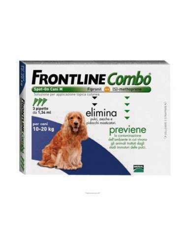 FRONTLINE COMBO SPOT-ON cani taglia media - 3 PIPETTE 1,34 ML 103655054