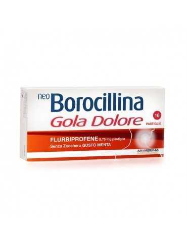 Neoborocillina Gola Dolore 16 Pastiglie Senza Zucchero gusto menta Alfa Wassermann